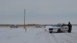 RCMP were on scene of an incident near Neepawa Friday morning.  (Photo courtesy Alan Gillies/GEM Media)
