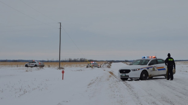 RCMP were on scene of an incident near Neepawa Friday morning.  (Photo courtesy Alan Gillies/GEM Media)