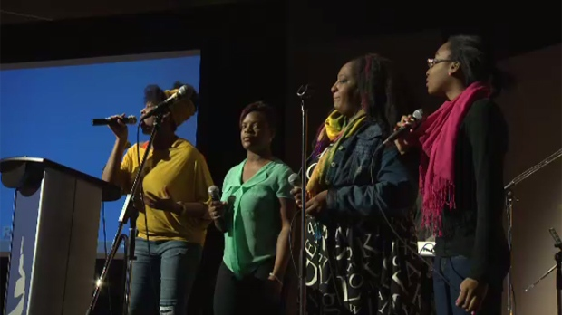 The Canadian Museum for Human Rights celebrated Black History Month Saturday with performances and workshops for people who came by.