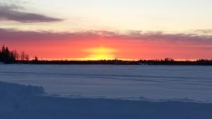 Norway House Sunrise. Photo by Robbie Apetagon.
