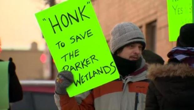 Wetlands protest