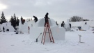 Visitors will get the chance to watch artists sculpting snow sculptures during Festival du Voyageur.