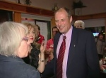 Drew Caldwell celebrates his 4th consecutive election win for the NDP in Brandon in 2011.