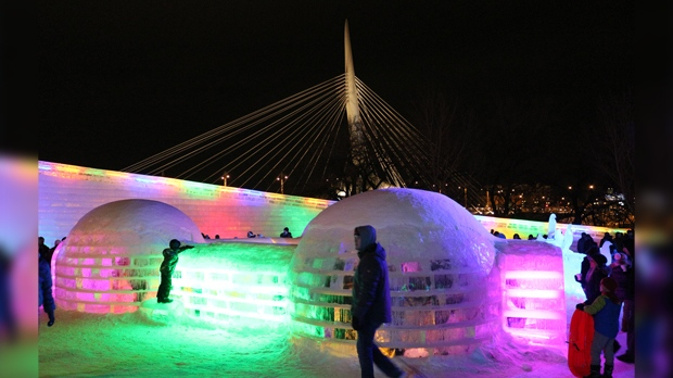 View from the Great Ice Show in Winnipeg. Photo by Lyle Jackman.