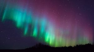 The northern lights lit up the sky in The Pas last night. Photo by Andre Brandt.
