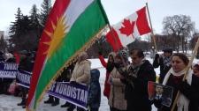 Kurdish protesters