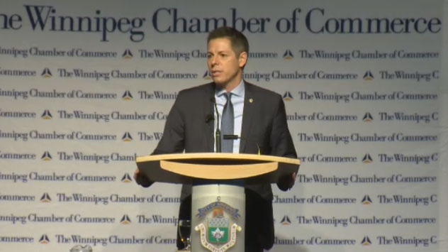 Mayor Brian Bowman delivered his annual State of the City address Thursday.