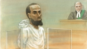 Ayanle Hassan Ali appeared in a court in Toronto, on Tuesday, March 15, 2016. (John Mantha)