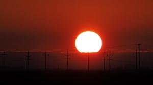 Gretna Sunset. Photo by Susie Teichroeb.
