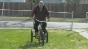 Man with neuromuscular condition gets new bike