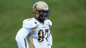The 6-foot-4, 300-pound Onyemata, a Nigerian who played college football at Manitoba in Canada, is New Orleans' fourth overall draft choice. (Photo courtesy Jeff Miller/Bison-Sports)