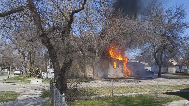 By the time crews arrived, the back of the house was well involved, platoon chief Morris Semkowski said. (Photo courtesy Nick Napier-Ford)