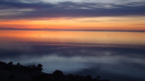 Sunrise at Buffalo point. Photo by Carol Schultz.