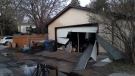 A garage was left severely damaged after an early morning fire on Waterloo Street.