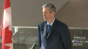 Brian Pallister is officially sworn-in as Premier of Manitoba Tuesday morning at a ceremony held at the Canadian Museum for Human Rights.