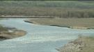 Controlled flooding along Assiniboine River
