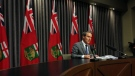 Manitoba Finance Minister Cameron Friesen released the province's public accounts Thursday morning, and the results showed a deficit of $846 million. (File Image)