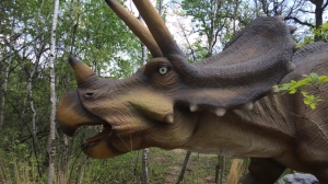The Dinosaurs Alive! exhibit opening at the Assiniboine Park Zoo this weekend features life-size animatronic models of real dinosaurs.