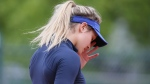 Eugenie Bouchard at the Roland Garros stadium in Paris, France, on May 24, 2016. (David Vincent / AP)