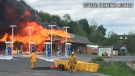 Clearwater Market Esso gas station caught fire late Thursday afternoon. Photo by Jonathan Richard.