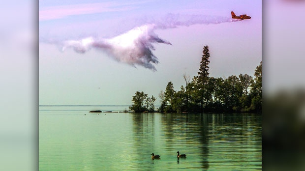 Test runs over Clearwater Lake, MB. Photo by Andre Brandt.