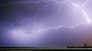 Lightning captured on the south perimeter. Photo by Joseph Koensgen.