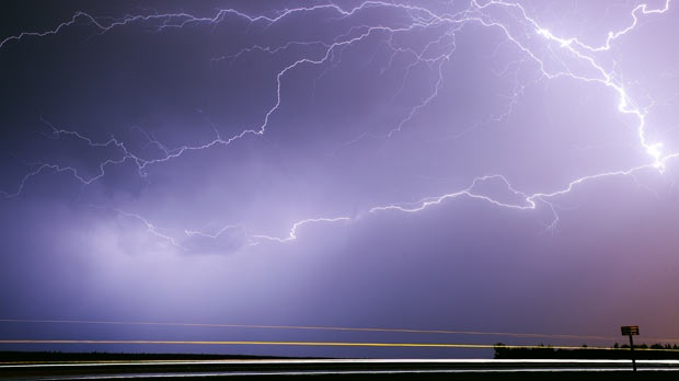 Lightning captured on the south perimeter. Photo by Joseph Koensgen.
