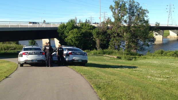 Police said a dive team would be on scene Friday to determine what is in the water.