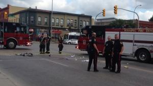 Witnesses said it was a woman on the bike. (Source: Gary Robson/ CTV Winnipeg)