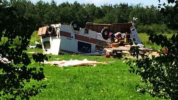 Communities across southern Manitoba are cleaning up after storms brought tornados and strong winds. Photo by Jamie Dowsett/CTV Winnipeg.