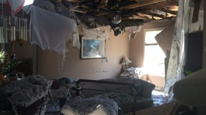 When the lightning struck, his attic exploded and collapsed into the main floor of his home. (Sarah Plowman/CTV Winnipeg)