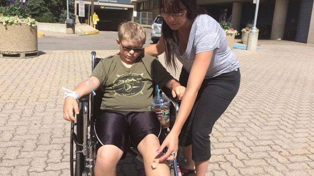 Booth said he was walking down an ATV track with his two cousins in Middlebro, roughly 186 kilometres southeast of Winnipeg, when he said, out of nowhere, someone in a black truck pulled up and fired a bullet into his left leg.