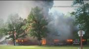 Aggressive fire burns camp near Dauphin