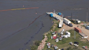 The province said the slow travel of the oil slick through eastern areas of the Saskatchewan River will give crews enough time to implement emergency plans if any cleanup is needed.  (File Image)