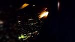 Plane wings on fire