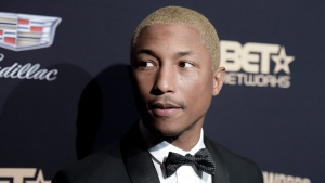In this Feb. 21, 2016, file photo, Pharrell Williams attends the 2016 ABFF Awards: A Celebration of Hollywood held at the Beverly Hilton Hotel in Beverly Hills, Calif. (Photo by Richard Shotwell/Invision/AP, File)