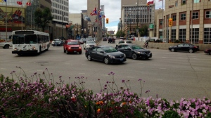 Downtown Winnipeg Biz believes the positives of reopening this iconic intersection, far outweigh any potential negatives. (source: Jon Hendricks/CTV Winnipeg)