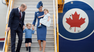 The Duke and Duchess of Cambridge and their children Prince George and Princess Charlotte arrive in Victoria, B.C., on Saturday, September 24, 2016. THE CANADIAN PRESS/Darryl Dyck