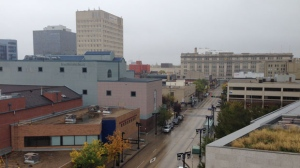 The view down Graham Avenue from the CTV Winnipeg rooftop on Sept. 25, 2016. (Photo: Gary Robson/CTV Winnipeg)