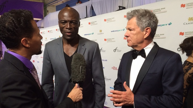 Seal and David Foster (Photo: Jamie Dowsett/CTV Winnipeg)