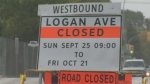 A construction project has closed Logan Avenue between Keewatin and Cecil streets to all westbound traffic.