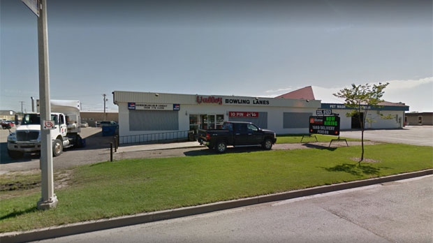 Police said two men were at the Valley Bowling Lanes in Winkler Saturday night when argument over an unpaid debt turned violent. (Source: Google Street View)