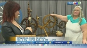 Lori Frejek has a unique collection of spinning wheels you can see at the Manitoba Fibre Festival