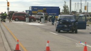 A multi-vehicle crash on the Perimeter Highway in August killed two people. MPI said 85 people in total died this year on provincial highways and city streets. (File Image)