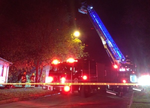 Flames were seen shooting out of the roof of the home in the 500 block of Jamison Avenue. (Stephanie Tsicos/CTV)