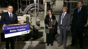 Mayor Brian Bowman and Premier Brian Pallister were on hand to announce tax breaks to five rental developments. (Source: Jamie Dowsett/CTV News)