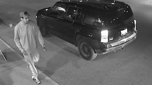 RCMP are searching for a male, shown in this photo provided by police, who was spotted at an RM of Rockwood business on Oct. 19 at around 3 a.m. (Source: Manitoba RCMP)
