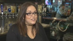 Melissa Ross, assistant manager at The Pint, hopes to reap some of the benefits of 8,000 visitors who have come to Winnipeg for the NHL Heritage Classic. (Source: CTV Winnipeg)