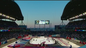 Jets take on Oilers at Heritage Classic