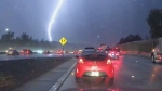 Slow-motion video captures lightning storm near Sa